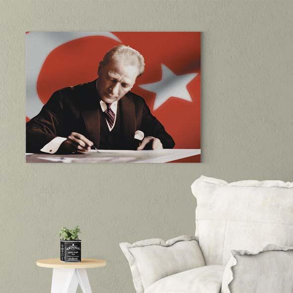 Atatürk-Temalı Kanvas Tablo-ata-Y004