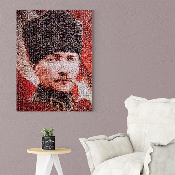 Atatürk Temalı Kanvas Tablo - D004