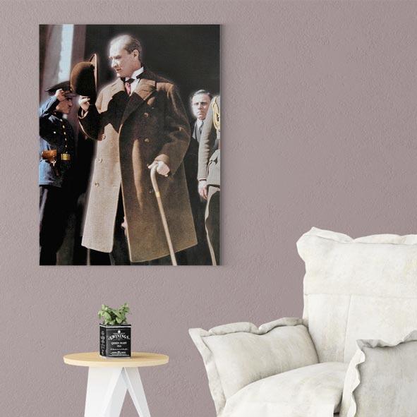 Atatürk Temalı Kanvas Tablo - D006