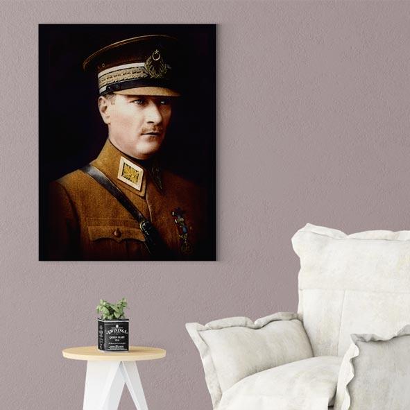 Atatürk Temalı Kanvas Tablo - D015