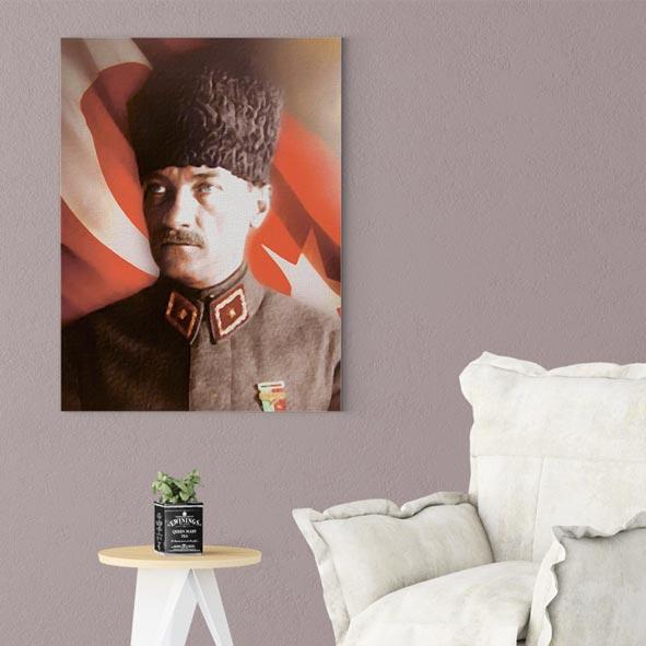 Atatürk Temalı Kanvas Tablo - D016