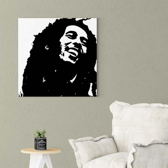 Bob Marley Temalı Kanvas Tablo-CK17