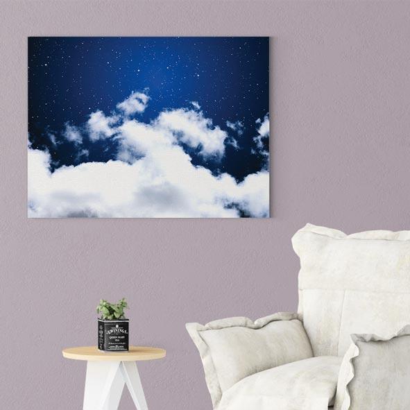Bulut Temalı Kanvas Tablo-y233