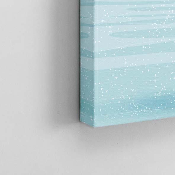 Buz Pateni Yapan Kadın Temalı Kanvas Tablo-K120