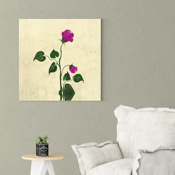 Çiçek Temalı Kanvas Tablo-k107