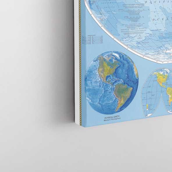 Dünya Haritası Kanvas Tablo-y678