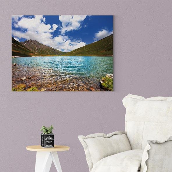 Göl Manzara Temalı Kanvas Tablo-Y065