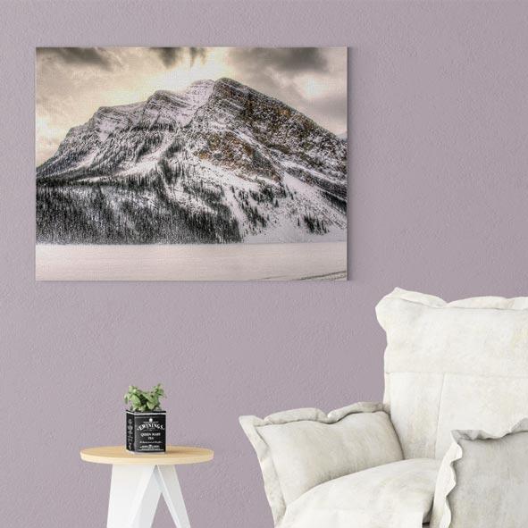 Kar Manzara Temalı Kanvas Tablo- Y064