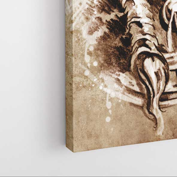 Kızıldereli Portresi Kanvas Tablo -D107