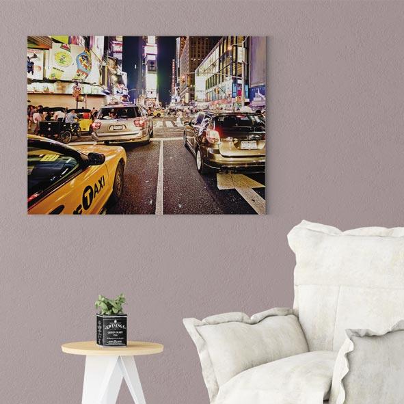 New York Şehir Manzarası Temalı Kanvas Tablo-Y015