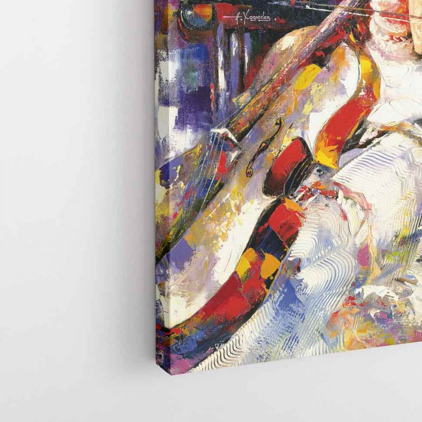 Pastel Çizim Temalı Kanvas Tablo-D096