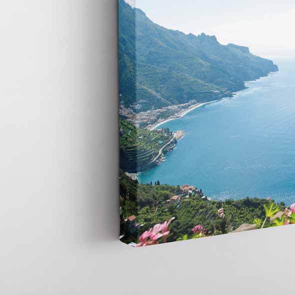 Sahil Kent Temalı Kanvas Tablo-Y045