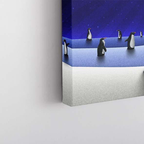 Sevimli Penguenler Temalı Kanvas Tablo-Y386