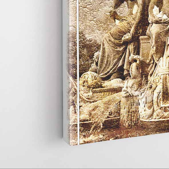 Tarihi Anıt Temalı Kanvas Tablo -D076