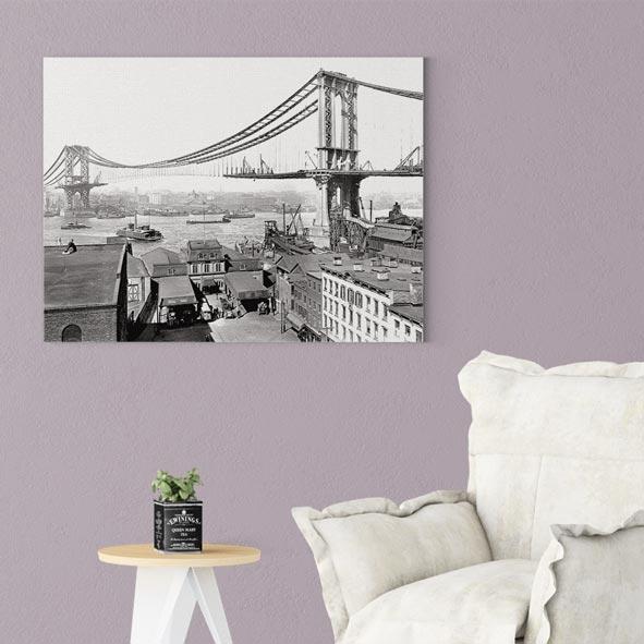 Tarihi Manhattan Köprüsü Kanvas Tablo-Y470