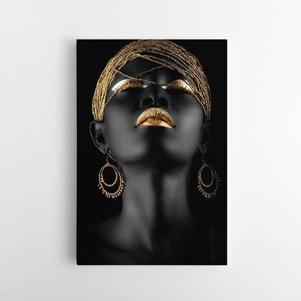 Afrikalı Kadın Temalı Kanvas Tablo-CD01