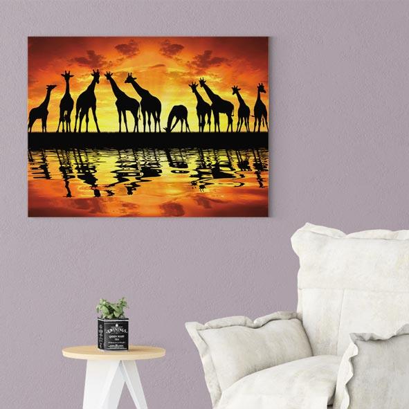 Zürafalar Temalı Kanvas Tablo - Y229